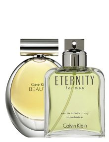 Eternity for Men, edT 100ml by Calvin Klein + Beauty for Women, edP 100ml by Calvin Klein - Bundle Offer for Couple!