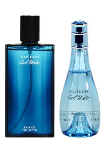 Cool Water for Men, edT 125ml by Davidoff + Cool Water for Women, edT 100ml by Davidoff - Bundle Offer for Couple!