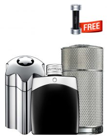 Bundle for Men: Emblem Intense for Men, edT 100ml by Mont Blanc  Icon for Men, edP 100ml by Dunhill  Legend for Men, edT 100ml by Mont Blanc  Champion for Men, edT 90ml by Davidoff Free!