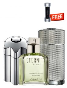 Bundle for Men: Emblem Intense for Men, edT 100ml by Mont Blanc  Icon for Men, edP 100ml by Dunhill  Eternity for Men, edT 100ml by Calvin Klein  Champion for Men, edT 90ml by Davidoff Free!
