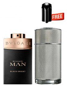 Bundle for Men: Icon for Men, edP 100ml by Dunhill  Man Black Orient for Men, Parfum 100ml by Bvlgari  Emblem Mini for Men, 4.5ml by Mont Blanc Free!