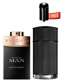 Bundle for Men: Icon Elite for Men, edP 100ml by Dunhill  Man Black Orient for Men, Parfum 100ml by Bvlgari  Emblem Mini for Men, 4.5ml by Mont Blanc Free!