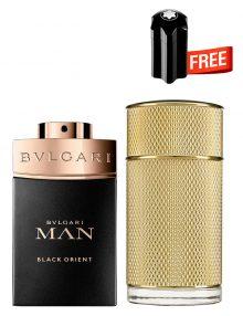 Bundle for Men: Icon Absolute for Men, edP 100ml by Dunhill  Man Black Orient for Men, Parfum 100ml by Bvlgari  Emblem Mini for Men, 4.5ml by Mont Blanc Free!