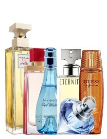 Mega Offer for Women: Cool Water for Women, edT 100ml by Davidoff  Marciano for Women, edP 100ml by Guess  Eternity for Women, edP 100ml by Calvin Klein  5th Avenue for Women, edP 125ml by Elizabeth Arden  Arden Beauty for Women, edP 100ml by Elizabeth Arden  Wish for Women, edP 75ml by Chopard