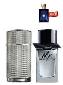 Bundle for Men: Icon for Men, edP 100ml by Dunhill  Mr Burberry for Men, edT 100ml by Burberry  Dylan Miniature for Men, 5ml by Versace Free!