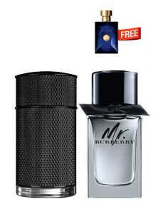 Bundle for Men: Icon Elite for Men, edP 100ml by Dunhill  Mr Burberry for Men, edT 100ml by Burberry  Dylan Miniature for Men, 5ml by Versace Free!