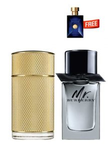 Bundle for Men: Icon Absolute for Men, edP 100ml by Dunhill  Mr Burberry for Men, edT 100ml by Burberry  Dylan Miniature for Men, 5ml by Versace Free!