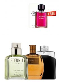 Bundle for Men: Marciano for Men, edT 100ml by Guess  Eternity for Men, edT 100ml by Calvin Klein  Legend for Men, edT 100ml by Mont Blanc  Joop Homme - Tester - for Men, edT 125ml by Joop Free!