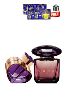 Gift Bundle for Women: Happy Spirit Amira d'amour for Women, edP 75ml by Chopard + Crystal Noir for Women, edP 90ml by Versace + Yellow Diamond Intense Miniature Gift Set for Women (edT 5ml + Perfumed Shower Gel 25ml + Perfumed Body Lotion 25ml) by Versace Free! + Gift Box Free! + Special Card for Mom Free!
