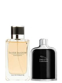 Bundle for Men: Silver Shadow for Men, edT 100ml by Davidoff + Jaguar Classic Black for Men, edT 100ml by Jaguar