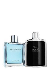Bundle for Men: Silver Shadow Altitude for Men, edT 100ml by Davidoff + Jaguar Classic Black for Men, edT 100ml by Jaguar