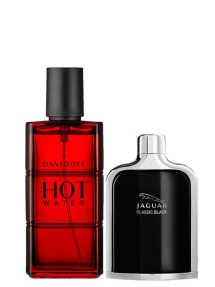 Bundle for Men: Hot Water for Men, edT 110ml by Davidoff + Jaguar Classic Black for Men, edT 100ml by Jaguar