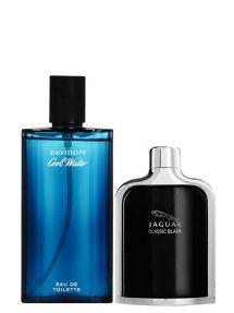 Bundle for Men: Cool Water for Men, edT 125ml by Davidoff + Jaguar Classic Black for Men, edT 100ml by Jaguar