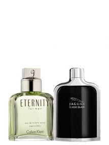 Bundle for Men: Eternity for Men, edT 100ml by Calvin Klein + Jaguar Classic Black for Men, edT 100ml by Jaguar