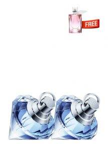 Bundle for Women: Wish for Women, edP 75ml by Chopard + Wish for Women, edP 75ml by Chopard + La vie est belle Florale Miniature for Women, edT 3ml by Lancome Free!
