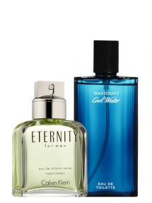 Bundle for Men: Eternity for Men, edT 100ml by Calvin Klein + Cool Water for Men, edT 125ml by Davidoff