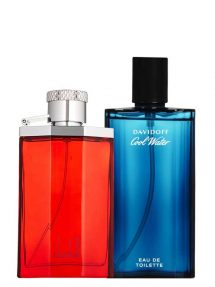 Bundle for Men: Desire Red for Men, edT 150ml by Dunhill + Cool Water for Men, edT 125ml by Davidoff
