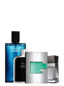 Bundle for Men: Guess Man Green for Men, edT 75ml by Guess + Cool Water for Men, edT 125ml by Davidoff + Jaguar Classic Black for Men, edT 100ml by Jaguar + Seductive for Men, edT 100ml by Guess