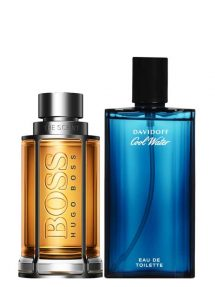 Bundle for Men: The Scent for Men, edT 100ml by Hugo Boss + Cool Water for Men, edT 125ml by Davidoff