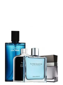 Bundle for Men: Silver Shadow Altitude for Men, edT 100ml by Davidoff + Cool Water for Men, edT 125ml by Davidoff + Jaguar Classic Black for Men, edT 100ml by Jaguar + Seductive for Men, edT 100ml by Guess