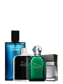 Bundle for Men: Jaguar Green for Men, edT 100ml by Jaguar + Cool Water for Men, edT 125ml by Davidoff + Jaguar Classic Black for Men, edT 100ml by Jaguar + Seductive for Men, edT 100ml by Guess