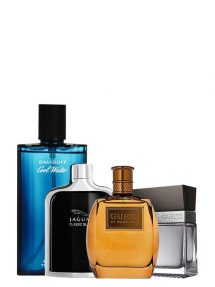 Bundle for Men: Marciano for Men, edT 100ml by Guess + Cool Water for Men, edT 125ml by Davidoff + Jaguar Classic Black for Men, edT 100ml by Jaguar + Seductive for Men, edT 100ml by Guess