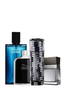 Bundle for Men: The Game for Men, edT 100ml by Davidoff + Cool Water for Men, edT 125ml by Davidoff + Jaguar Classic Black for Men, edT 100ml by Jaguar + Seductive for Men, edT 100ml by Guess