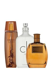 Bundle for Couples: Marciano for Women, edP 100ml by Guess + Marciano for Men, edT 100ml by Guess + CK One (White) for Men and Women (Unisex), edT 100ml by Calvin Klein