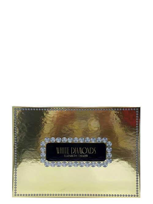 White Diamonds Gift Set for Women (edT 100ml + Perfumed Body Lotion + Gentle Moisturizing Body Wash + edT 10ml) by Elizabeth Taylor