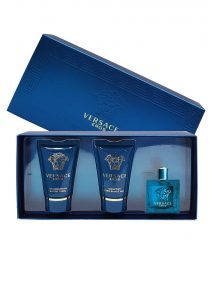 Eros Miniature Gift Set for Men (edT 5ml + Invigorating Shower Gel 25ml + Comfort After-Shave Balm 25ml) by Versace