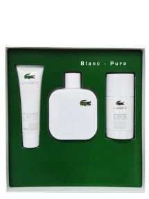 Eau de Lacoste Blanc (White) Gift Set for Men (edT 100ml + Shower Gel + Deodorant Stick) by Lacoste