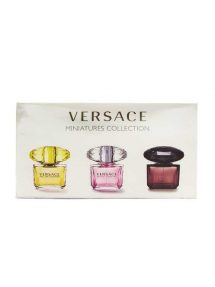 Miniature Collection for Women, set of 3pcs, 5ml each (Yellow Diamond + Crystal Noir + Bright Crystal) by Versace