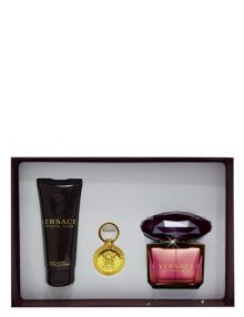 Crystal Noir Gift Set for Women (edP 90ml + Body Lotion + Keychain) by Versace