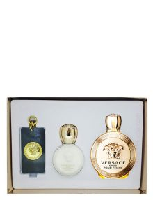 Eros Gift Set for Women (edP 100ml + Body Lotion + Bag Tag) by Versace