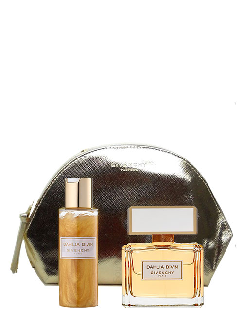 Dahlia Divin Gift Set for Women (edP 75ml + Moisturizing Skin Dew + Pouch) by Givenchy