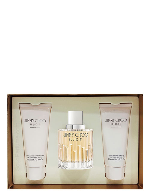 Jimmy Choo Illicite Gift Set for Women (edP 100ml + Shower Gel + Body Lotion) by Jimmy Choo