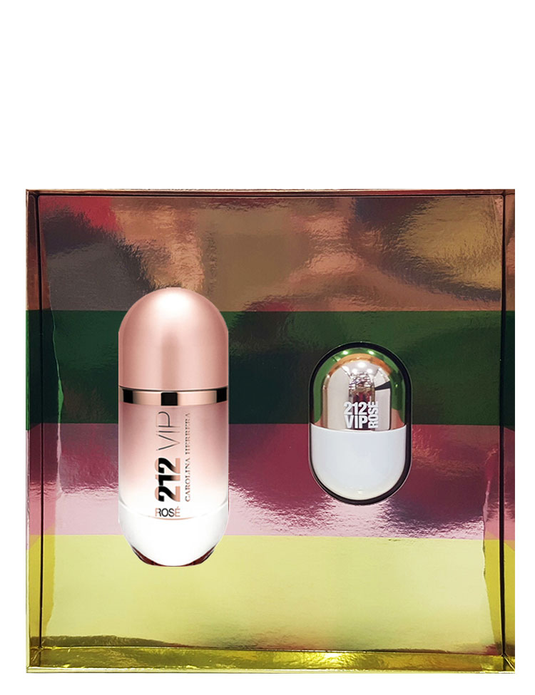 212 Vip Rose Gift Set for Women (edP 80ml + Mini 20ml) by Carolina Herrera