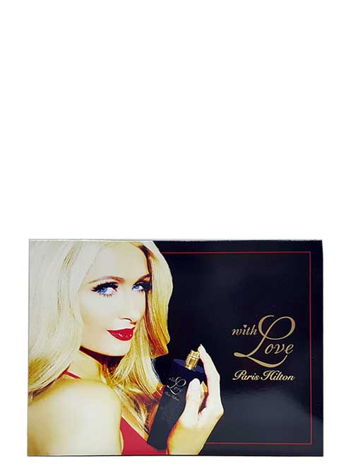 With Love Gift Set for Women (edP 100ml + Body Lotion + Bath and Shower Gel + edP Rollerball) by Paris Hilton