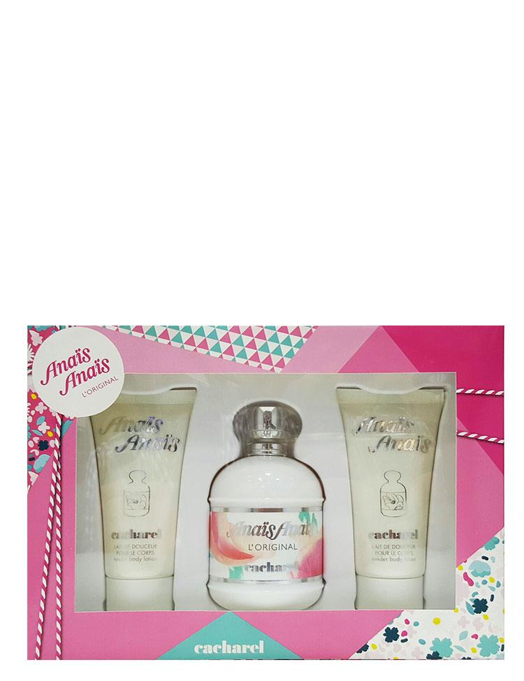 Anais Anais Gift Set for Women (edT 100ml + Body Lotion + Body Lotion) Cacharel