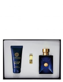 Dylan Blue Gift Set for Men (edT 100ml + Bath and Shower Gel + Money Clip) by Versace