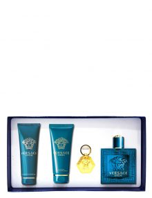 Eros Gift Set for Men (edT 100ml + Shower Gel + After Shave Balm + Keychain) by Versace