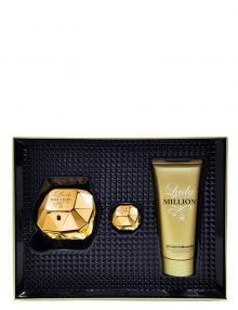 Lady Million Gift Set for Women (edP 80ml + Sensual Body Lotion + Miniature) by Paco Rabanne