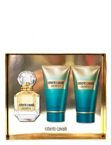 Paradiso Gift Set for Women (edP 75ml + Body Lotion + Shower Gel) by Roberto Cavalli
