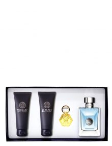 Versace pour Homme Gift Set for Men (edT 100ml + Perfumed Shower Gel + After Shave Balm + Keychain) by Versace