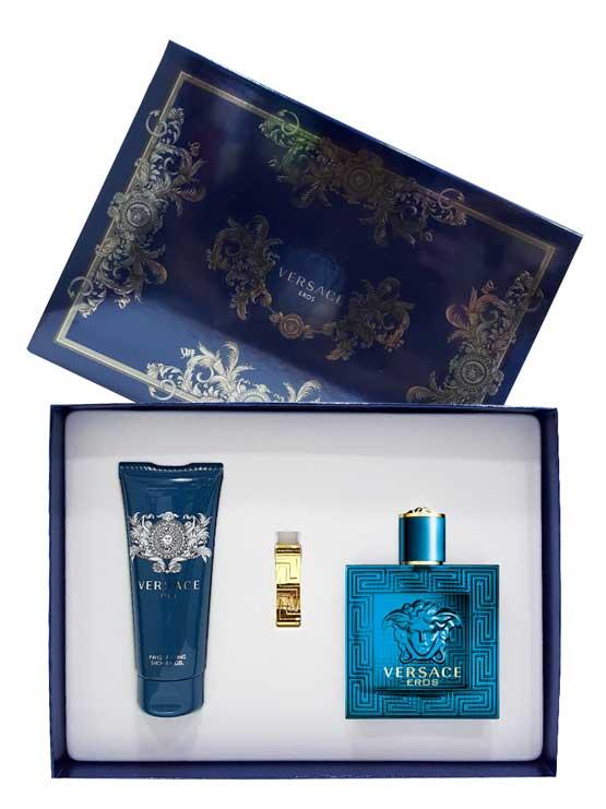 Eros Gift Set for Men (edT 100ml + Invigorating Shower Gel + Money Clip)