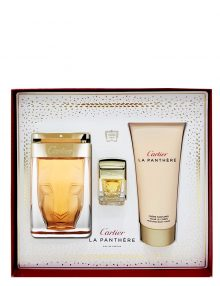 La Panthere Gift Set for Women (edP 75ml + Perfumed Body Cream + Miniature) by Cartier