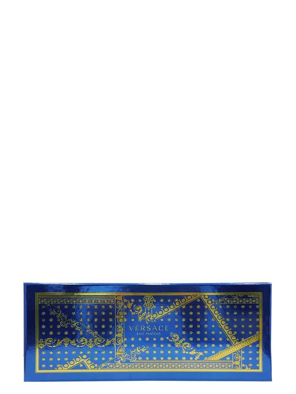 Eau Fraiche Gift Set for Men (edT 100ml + Bath and Shower Gel + Black Trousse) by Versace