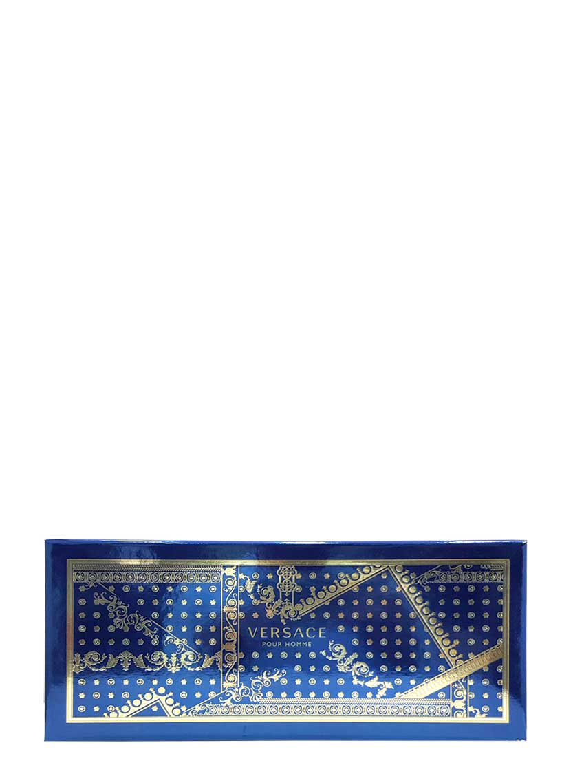 Versace Pour Homme Gift Set for Men (edT 100ml + Hair and Body Shampoo + Black Trousse) by Versace