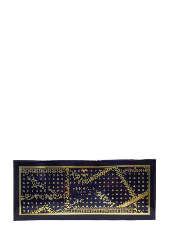 Dylan Blue Gift Set for Men (edT 100ml + Perfumed Bath and Shower Gel + Black Trousse) by Versace