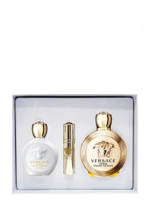 Eros Gift Set for Women (edP 100ml + Luxury Body Lotion + Mini 10ml) by Versace